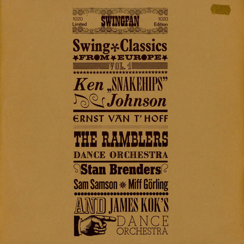 V.A. - Swing Classics From Europe Vol. 1
