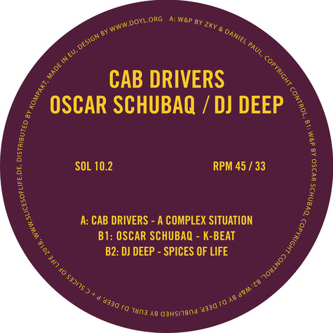 Cab Drivers, Oscar Schubaq & DJ Deep - Slices Of Life 10.2