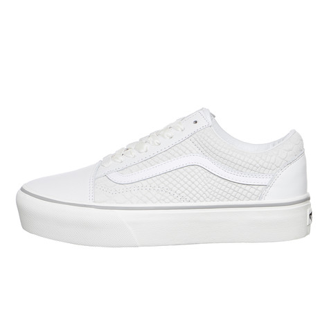 46f73f0df6 Vans - Old Skool Platform Leather (Snake   White)