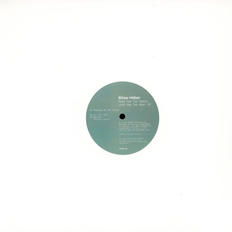Alton Miller - Down For The Dance, Love For The Beat EP
