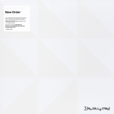 New Order - New Order + Liam Gillick: So It Goes ...