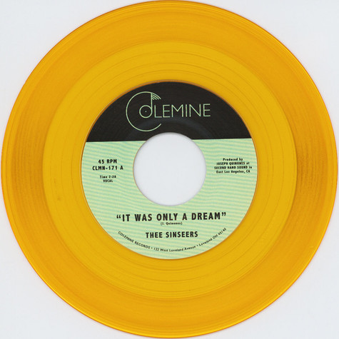 Thee Sinseers - It Was Only A Dream HHV EU Exclusive Gold Vinyl Edition