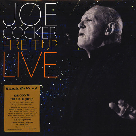 Joe Cocker - Fire It Up - Live Coloured Vinyl Edition