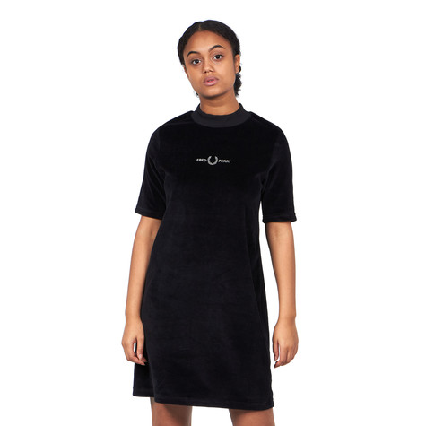 Fred Perry - Velour Embroidered Dress