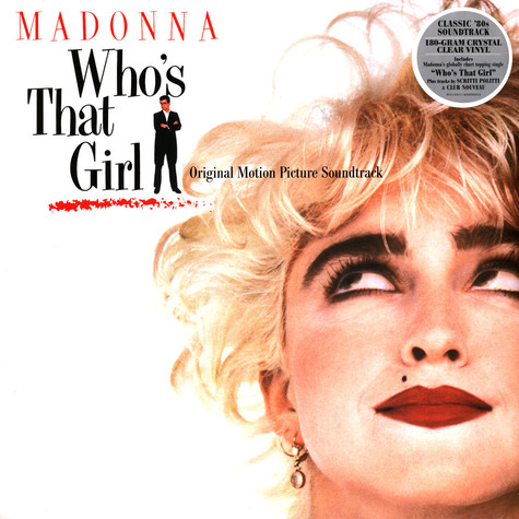 Madonna - OST Who's That Girl Crystal Clear Vinyl Edition
