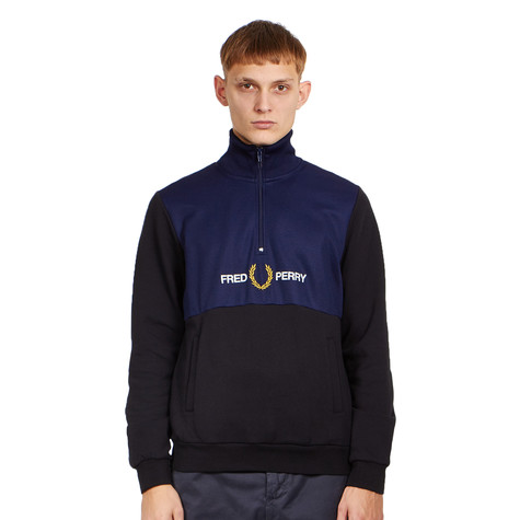 Fred Perry - Embroidered Half Zip Track Jacket