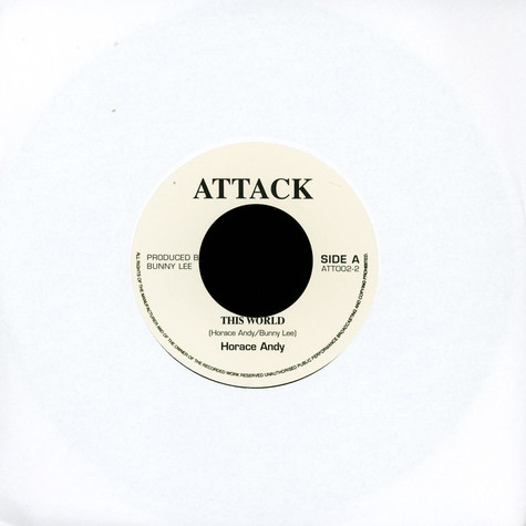 Horace Andy / Aggrovators - This World / World Dub