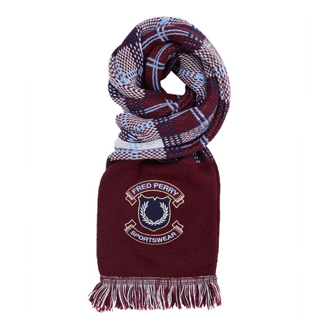 Fred Perry - Crest Branded Tartan Scarf