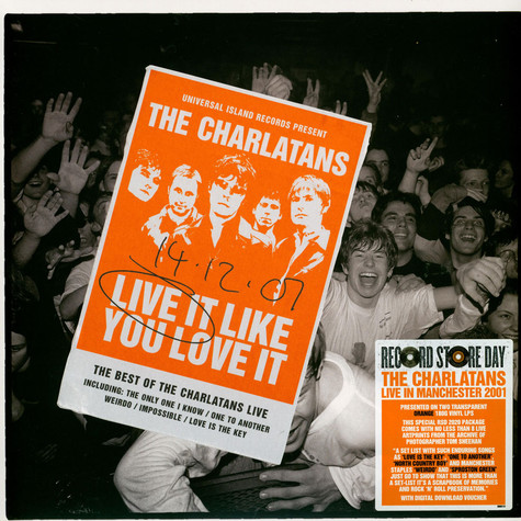 Charlatans, The - Live It Like You Love It Colored Record Store Day 2020 Edition