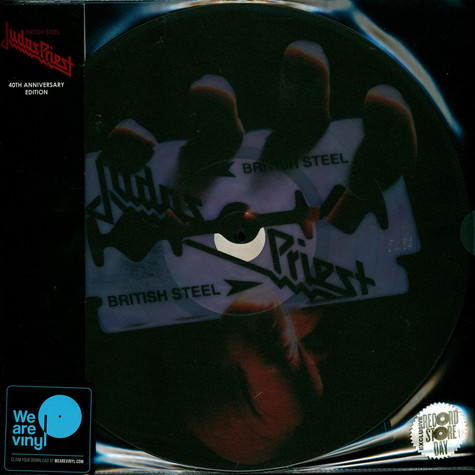 Judas Priest - British Steel Red, White & Blue Marble On Clear Base Record Store Day 2020 Edition