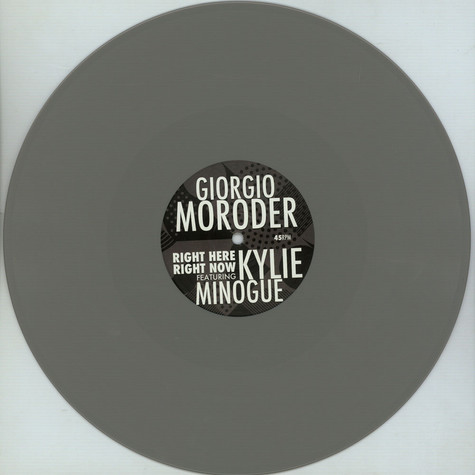 Giorgio Moroder & Kylie Minogue - Right Here Right Now Record Store Day 2020 Edition