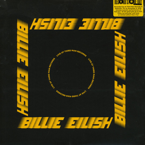 Billie Eilish - Live At Third Man Records Opaque Blue Record Store Day 2020 Edition