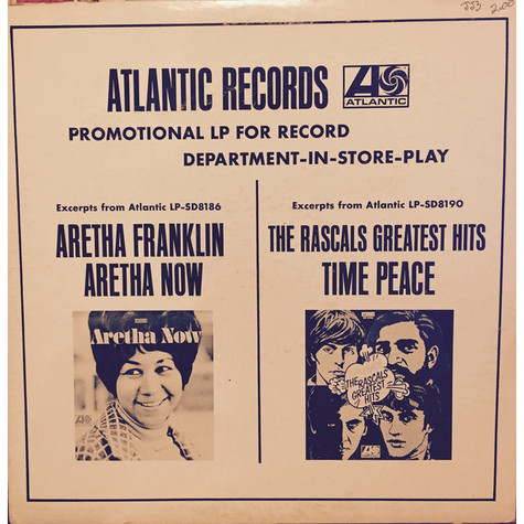 Aretha Franklin / The Rascals - Promotional LP For Record Department-In-Store-Play