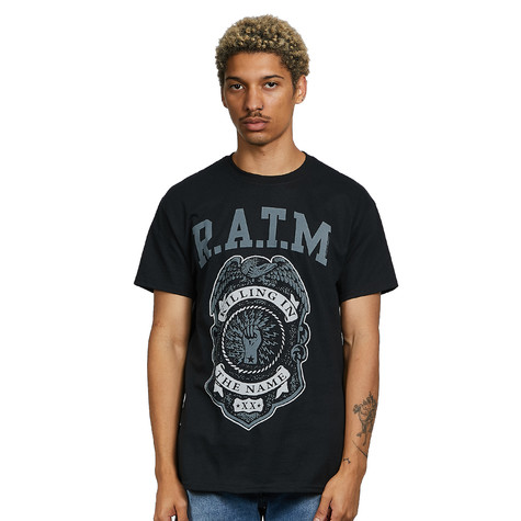 Rage Against The Machine - Grey Police Badge T-Shirt