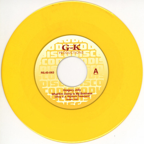 Gregory Jolly - What 'Em Doing Is My Business Yellow Vinyl Edition