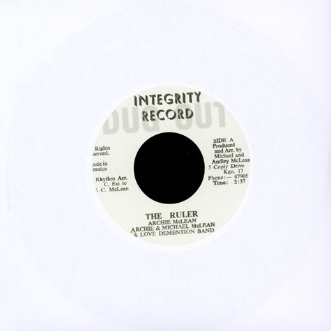 Archie Mclean / Love Demention Band - The Ruler / Part 2