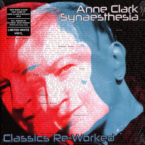 Anne Clark - Synaesthesia - Classics Re-Worked White Vinyl Edition