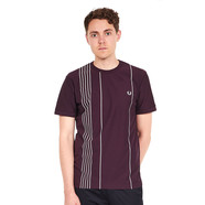 Fred Perry - Vertical Stripe Pique T-Shirt