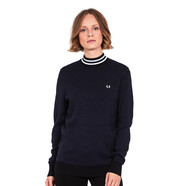 Fred Perry - Houndstooth Turtleneck Jumper