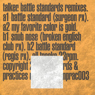 Talker - Battle Standards Remixes Silver Vinyl Edition