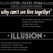 Illusion - Why Can't We Live Together