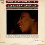 Carmen McRae - Something Wonderful