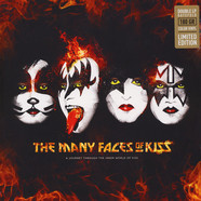 V.A. - The Many Faces Of Kiss Yellow Splatter Vinyl Edition