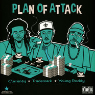 Curren$y, Trademark Da Skydiver & Young Roddy - Plan Of Attack Turquoise Vinyl Edition
