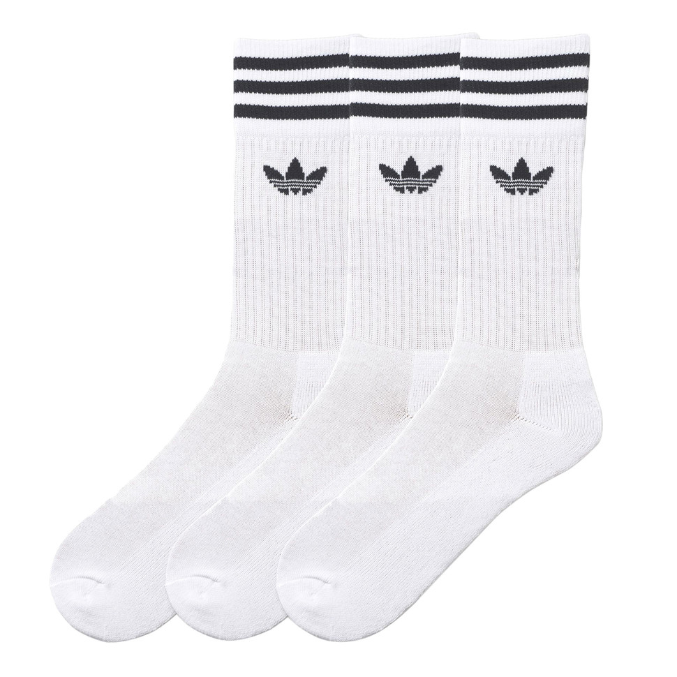 adidas Solid Crew Socks (Pack of 3) EU 35 38