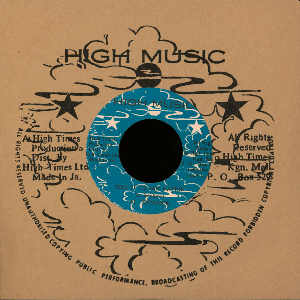 Al Kenlock / Short Man - Tell It To Jah Nation / Light Your Spliff