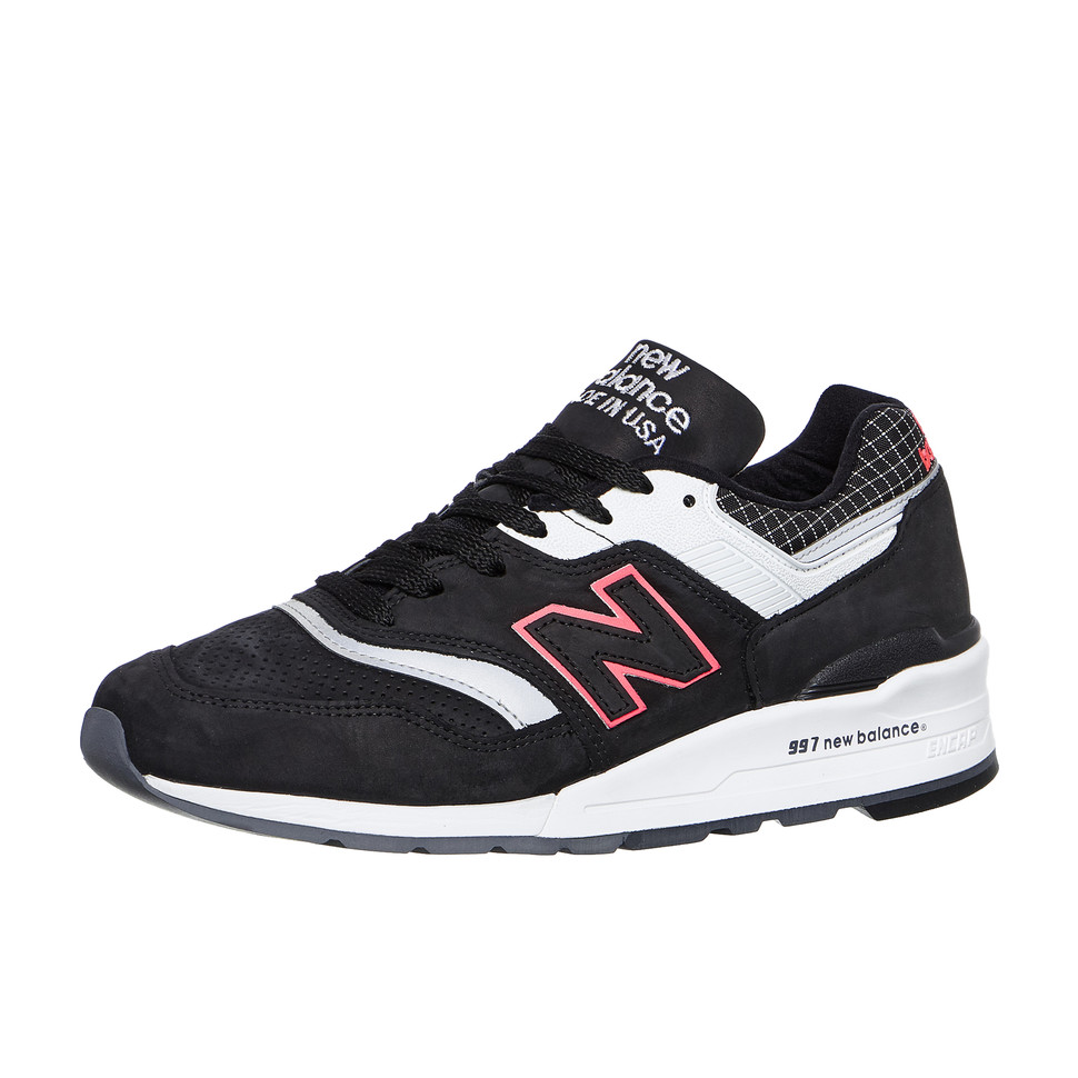 New-Balance-m997-CR-made-in-USA-Black-White-Sneaker-Chaussures-De-Sport miniature 2
