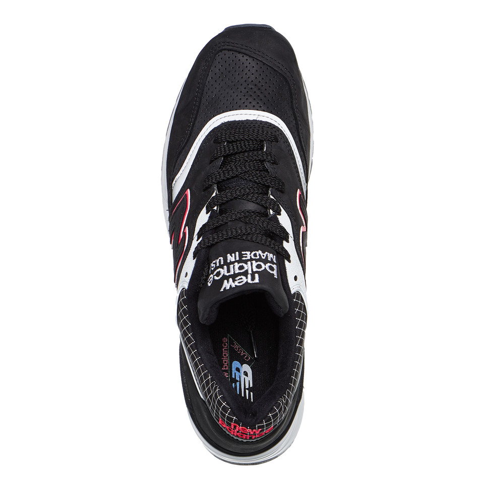 New-Balance-m997-CR-made-in-USA-Black-White-Sneaker-Chaussures-De-Sport miniature 4