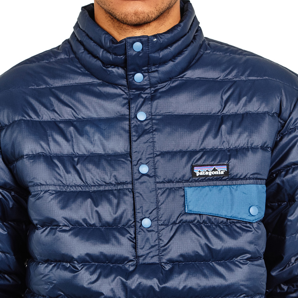PATAGONIA DOWN Snap T Pullover Jacket Navy Blue