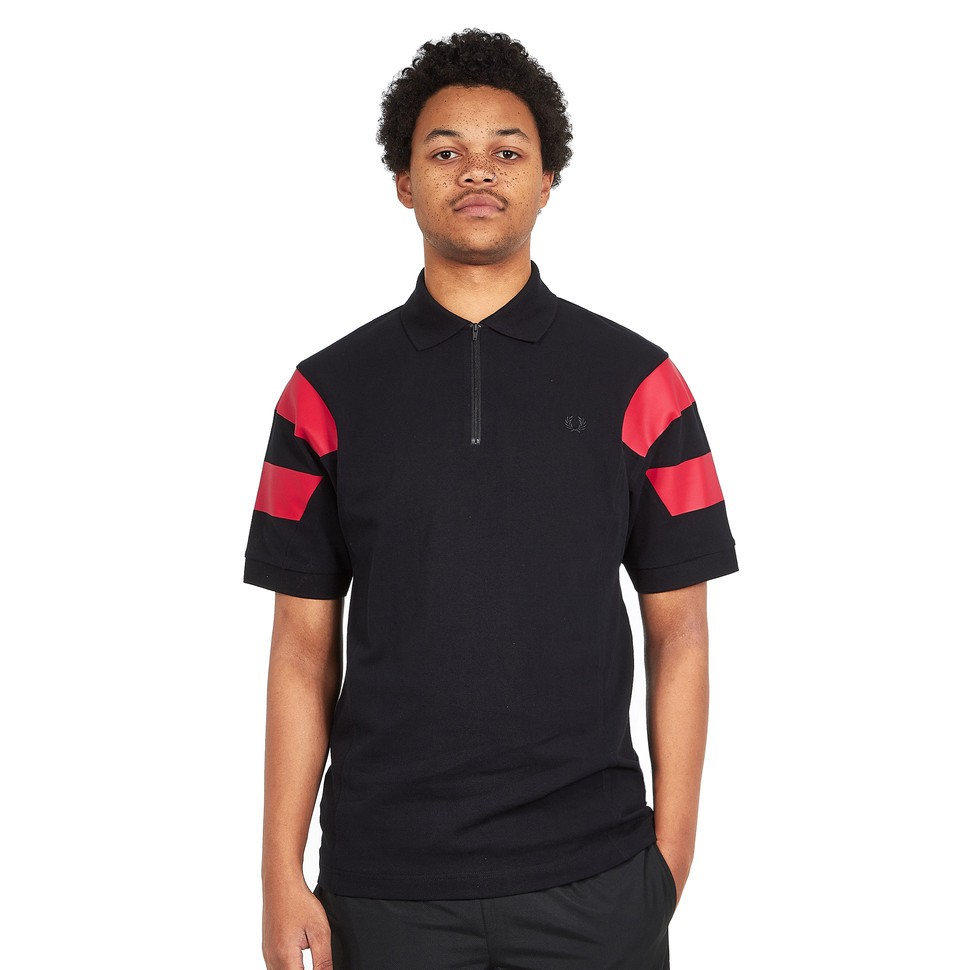 Fred Perry - Printed Sleeve Panel Pique Shirt
