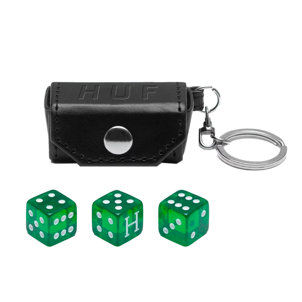 Huf Cee Lo Dice Keychain Black Hhv