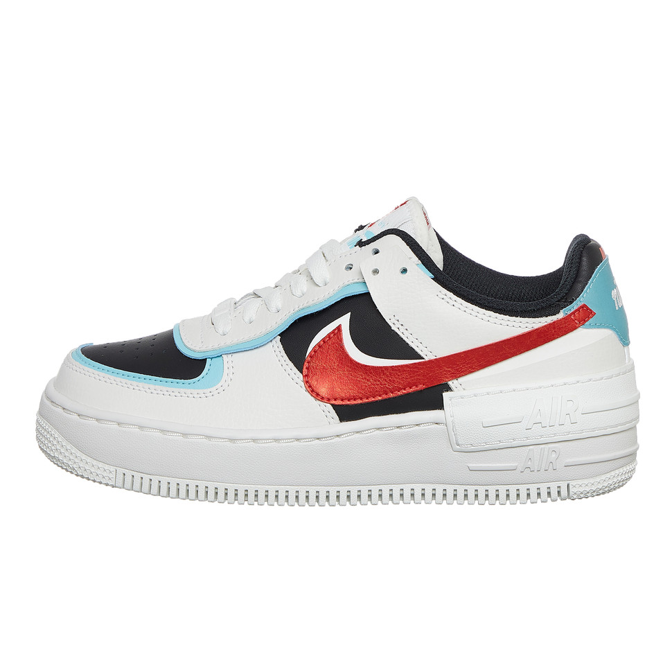 Nike Wmns Air Force 1 Shadow Summit White Chile Red Bleached Aqua Hhv The nike air force 1 shadow has arrived in another new color. nike wmns air force 1 shadow us 6 5 eu 37 5 uk 4 23 5