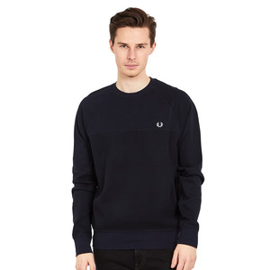 Fred Perry - Textured Panel Crew Neck