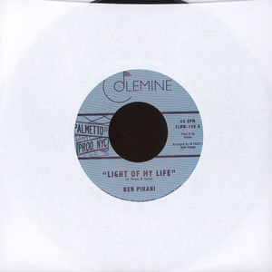 Ben Pirani - Light Of My Life / Dreamin's For Free Black Vinyl Edition